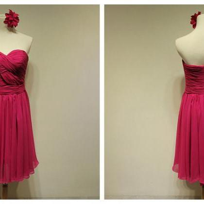 Bd372 Chiffon Bridesmaid Dress,Shor..