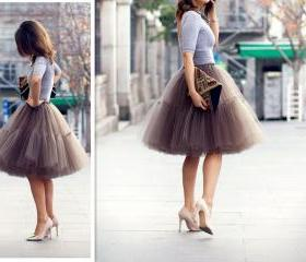S-6Fashion Skirt,Tul..