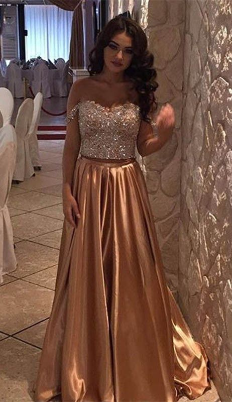 Pd70505 Charming Prom Dress,Beading Prom Dress,Two Pieces Prom ...