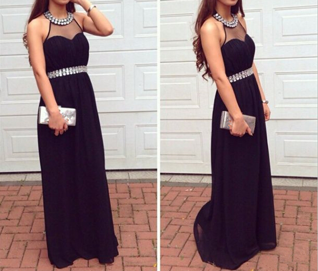 Pd558 Charming Prom Dress,Halter Prom Dress,A-Line Prom Dress,Chiffon Prom Dress,Sequined Prom Dress
