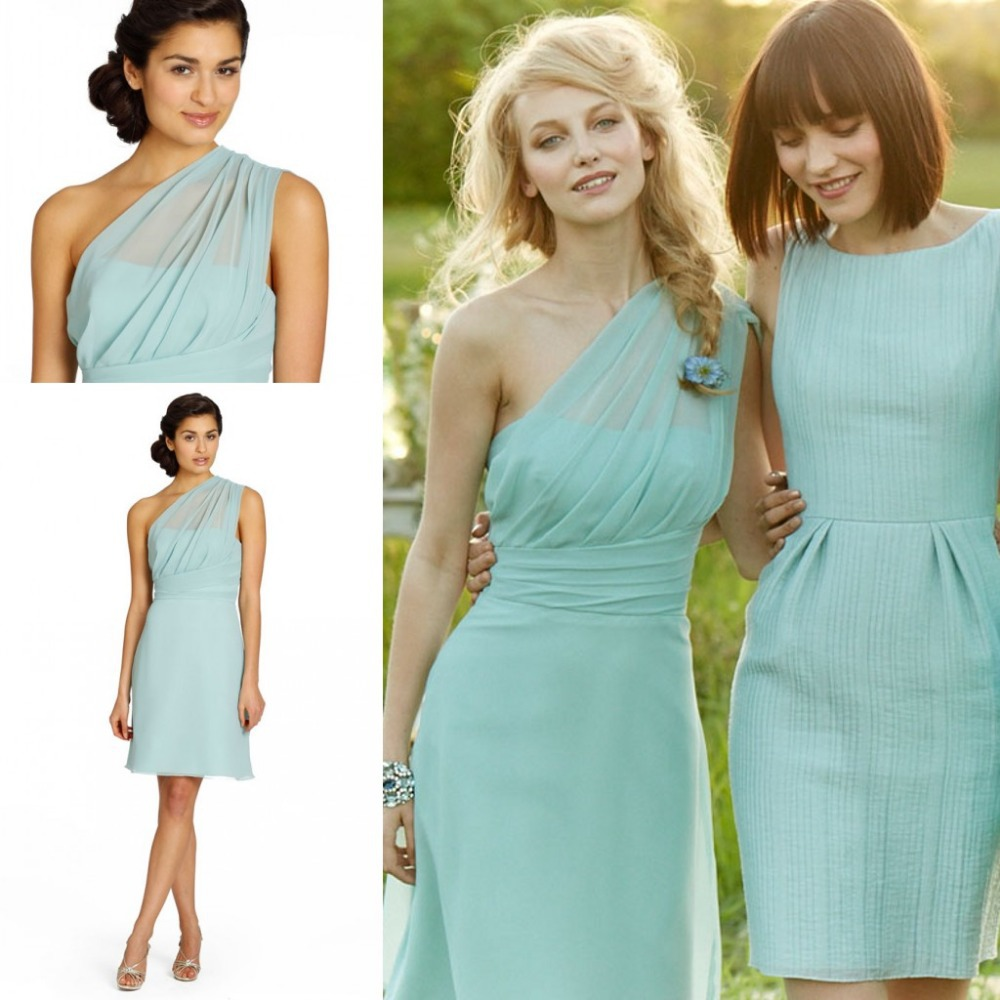 595fb470f592 Bd06307 Charming Bridesmaid Dress,One-Shoulder Bridesmaid Dress,Chiffon  Bridesmaid,Short Brief