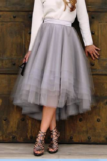 Pd81226 New Arrival Skirt, Street Style Skirt,Tulle Skirt,Fashion Women Skirt,Spring Autumn Skirt ,Mid-Length Skirt