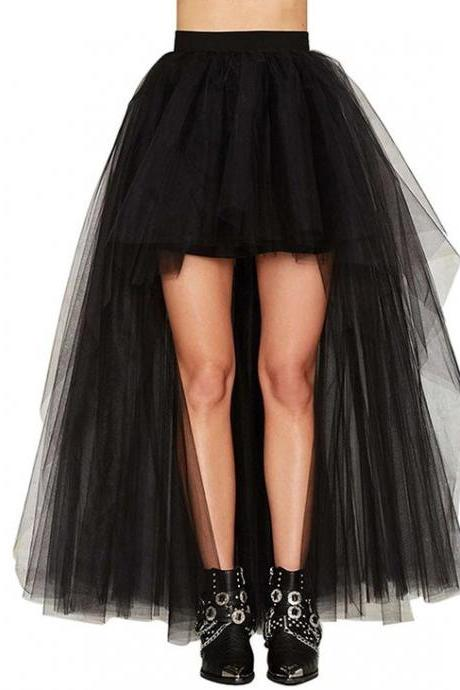 Pd81228 New Arrival Skirt, Street Style Skirt,Tulle Skirt,Fashion Women Skirt,Spring Autumn Skirt ,High/Low Skirt
