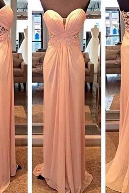 Pd10231 Charming Prom Dress,Chiffon Prom Dress,Lace Prom Dress,Sweetheart Prom Dress,Floor-Length Prom Dress