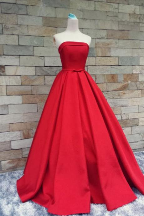 Pd10296 Charming Prom Dress,A-Line Prom Dress,Satin Prom Dress,Noble Prom Dress,Strapless Prom Dress