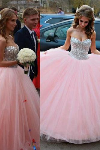 Pd11193 Charming Prom Dress,Tulle Prom Dress,Sweetheart Prom Dress,Beading Prom Dress,Ball Gown