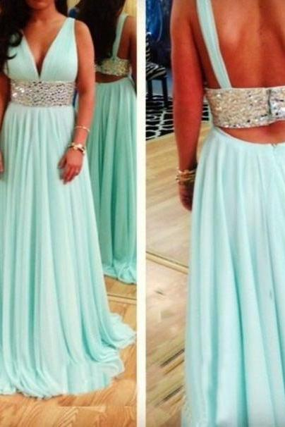 Pd01155 Charming Prom Dress,Two Pieces Prom Dress,A-Line Prom Dress,Chiffon Prom Dress,Beading Evening Dress