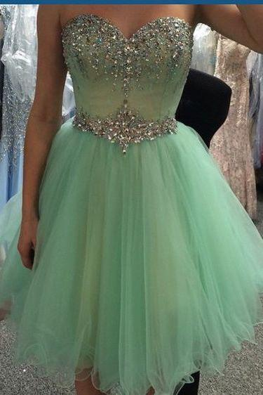 Gd604222 Beauty Graduation Dress,Short Prom Dress,Sweetheart Homecoming Dress,Beading Prom Dress