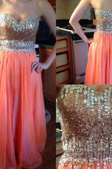 Pd606138 Charming Prom Dress,Chiffon Prom Dress,Beading Prom Dress,Sweetheart Prom Dress,Beauty Evening Dress