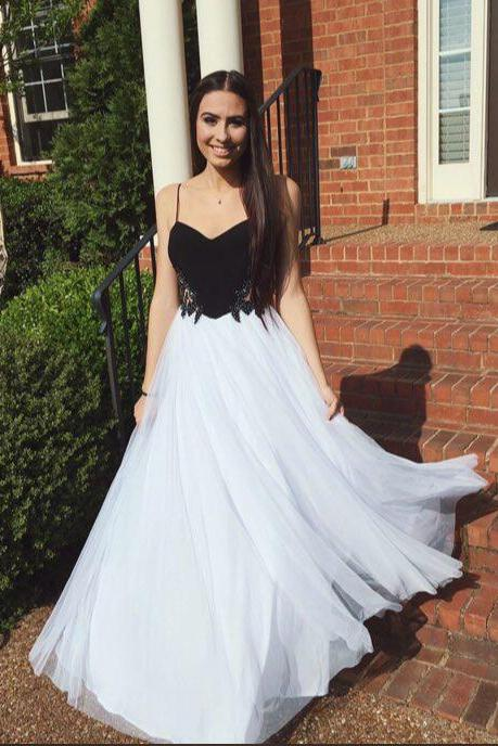 Pd606178 High Quality Prom Dress,Tulle Prom Dress,A-Line Prom Dress,Spaghetti Straps Prom Dress, Charming Evening Dress