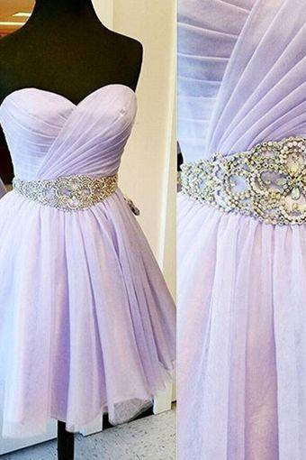 Hd60802 High Quality Homecoming Dress,Beading Homecoming Dress,Chiffon Graduation Dress,Sweetheart Short Prom Dress