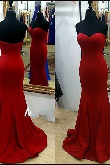 Pd61053 Charming Prom Dress,Satin Prom Dress,Mermaid Prom Dress,Sweetheart Evening Dress