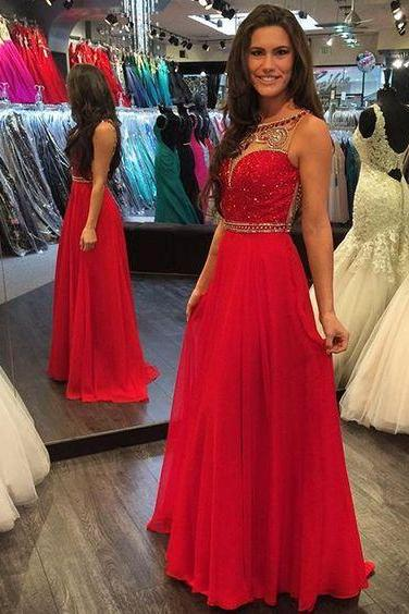Pd61213 Charming Prom Dress,Beading Prom Dress,A-Line Prom Dress,Chiffon Evening Dress