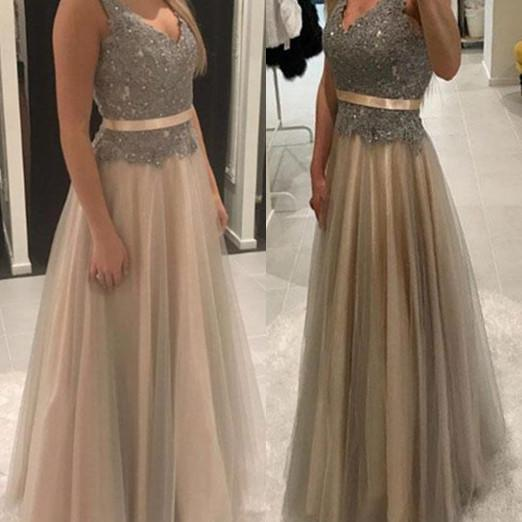 Pd80123 Charming Prom Dress,Tulle Prom Dresses,Lace Prom Dresses,A-Line Evening Dress