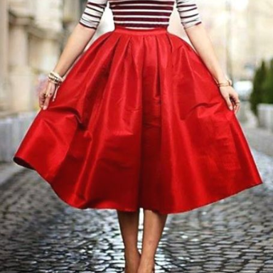 Pd81201 New Arrival Skirt, Red Skirt,Satin Skirt,Fashion Women Skirt,Spring Autumn Skirt ,A-Line Skirt