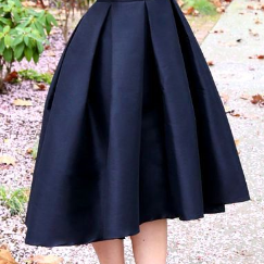 Pd81202 New Arrival Skirt, Black Skirt,Satin Skirt,Fashion Women Skirt,Spring Autumn Skirt ,A-Line Skirt