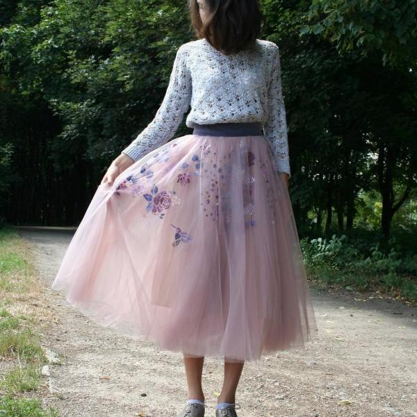 S33 High Quality skirt, Street Style Skirt,Tulle Skirt,Tutu Skirt,appliques Skirt ,Custom Skirt