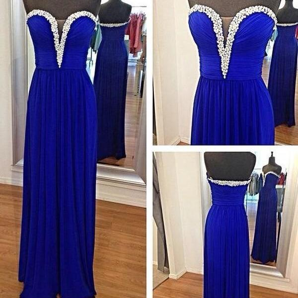 Pd241 Sweetheart Prom Dress,Chiffon Prom Dress,Long Prom Dress,A-Line Prom Dress