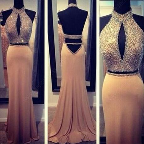 Pd369 Sexy Prom Dress,Beading Prom Dress,Halter Prom Dress,Mermaid Prom Dress,Backless Prom Dress