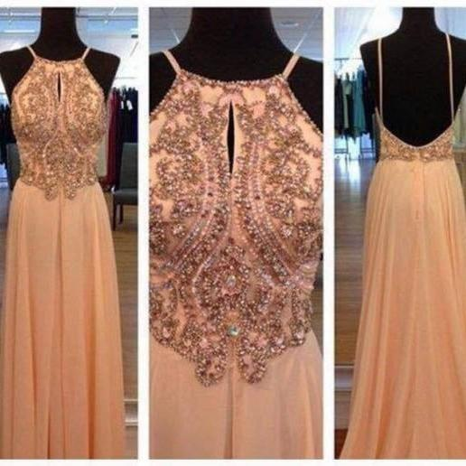 Pd371 Charming Prom Dress,Chiffon Prom Dress,Sequined Prom Dress,A-Line Prom Dress,Spaghetti Strap Prom Dress
