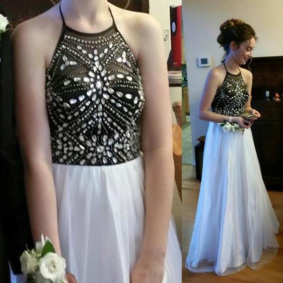 Pd531 Charming Prom Dress,Halter Prom Dress,A-Line Prom Dress,Sequined Prom Dress,Girl's Graduation Dress