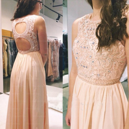Pd557 Charming Prom Dress,Beading Prom Dress,A-Line Prom Dress,Backless Prom Dress,Chiffon Prom Dress