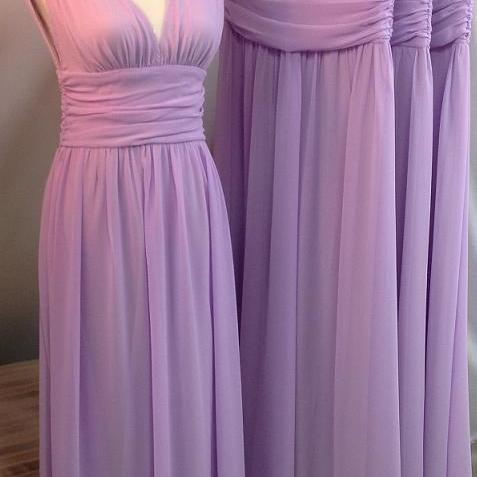 Bd07012 Charming Bridesmaid Dress,V-Neck Bridesmaid Dress,Chiffon Bridesmaid,Brief Long Prom Dress