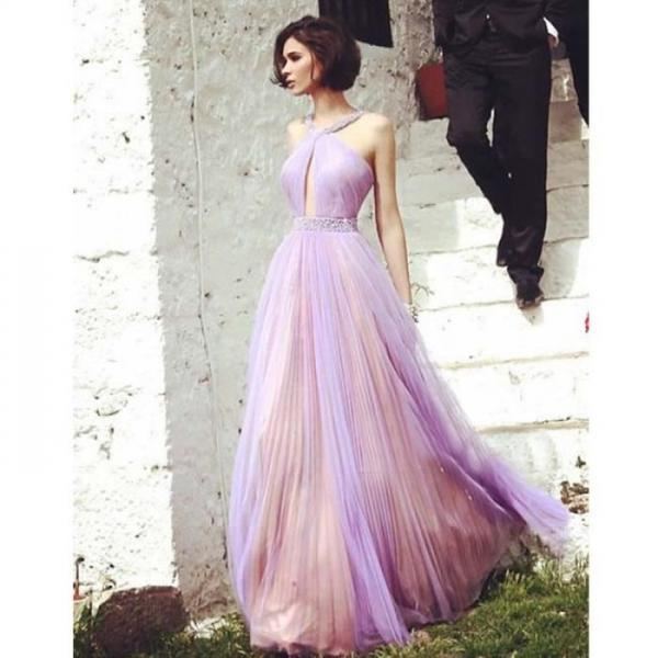 Pd12144 Charming Prom Dress,Halter Prom Dress,A-Line Prom Dress,Chiffon Prom Dress,Sexy Prom Dress