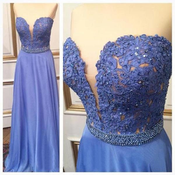 Pd01083 Charming Prom Dress,A-Line Prom Dress,Chiffon Prom Dress,Lace Prom Dress,Sweetheart Evening Dress